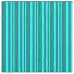 [ Thumbnail: Aqua and Teal Colored Striped/Lined Pattern Fabric ]