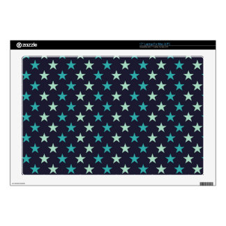 aqua and teal tiny stars decals for laptops