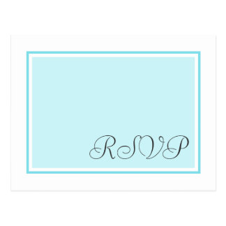 Aqua and Teal Wedding RSVP Postcards