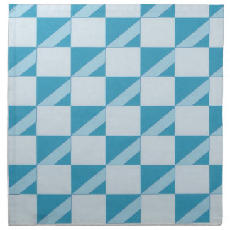 Aqua and turquoise diagonal striped dinner napkins