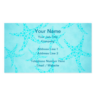 Aqua and Turquoise Starfish Design. Business Card