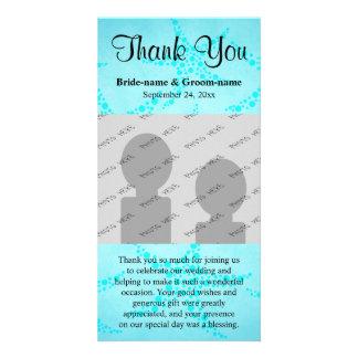 Aqua and Turquoise Starfish Wedding. Photo Greeting Card