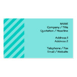 Aqua and Turquoise Stripes Business Card
