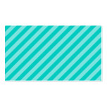 Aqua and Turquoise Stripes Business Card Template