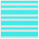 [ Thumbnail: Aqua and White Colored Stripes Pattern Fabric ]