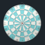 "Aqua And White Dartboard<br><div class=""desc"">Aqua And White Dart Board</div>"