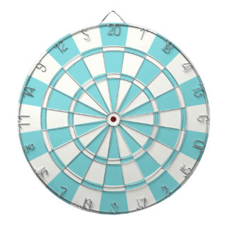 Aqua And White Dartboard
