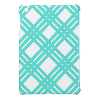Aqua and White Gingham iPad Mini Covers
