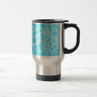 Aqua and White Mottled Travel Mug