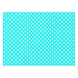 Aqua and White Polka Dots Tablecloth