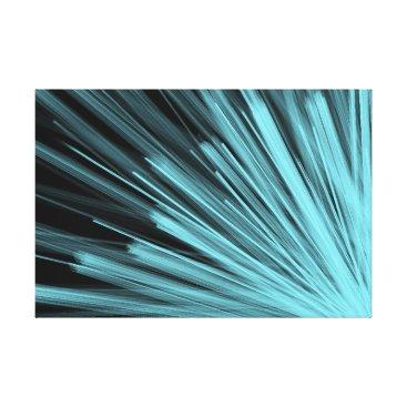 Aqua Aqua Angular Lines - Canvas Print