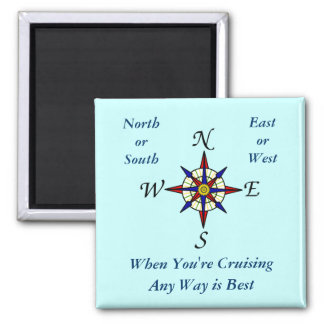 Aqua Any Way Cruising Sqiare Magnet