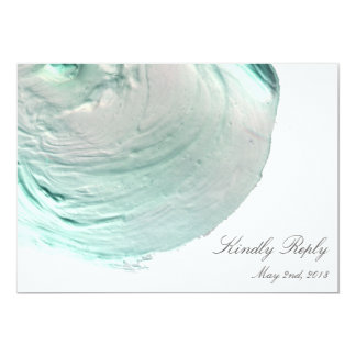 Aqua Artistic Elegance Wedding RSVP Card