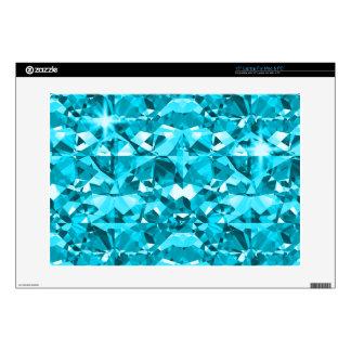"Aqua Awesome Diamonds 15"" Laptop Decal"