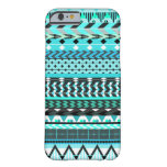 Aqua Aztec Pattern Barely There iPhone 6 Case