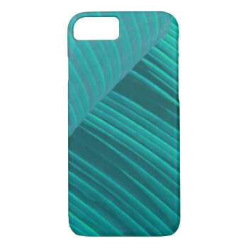 Aqua Banana Leaf iPhone 7 Case