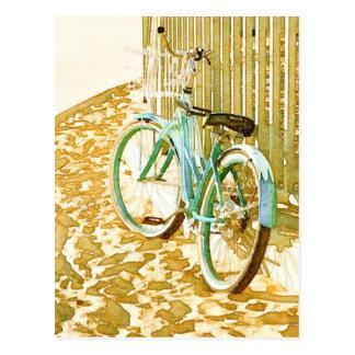 Aqua Beach Cruiser Postcard