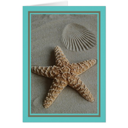 Aqua Beach Note Card