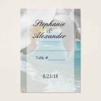 Aqua Beach Orchid Table Place Card
