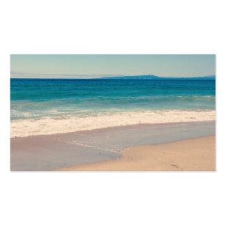 Aqua Beach Scene Business Card Templates