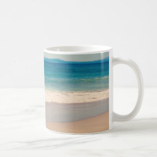 Aqua Beach Scene Classic White Coffee Mug