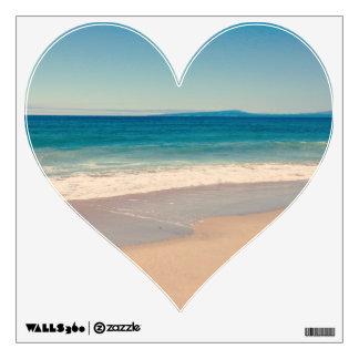 Aqua Beach Scene Heart Wall Graphic