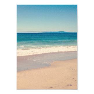 Aqua Beach Scene Invitation
