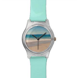 Aqua Beach Scene Wrist Watch