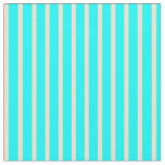[ Thumbnail: Aqua & Beige Colored Striped/Lined Pattern Fabric ]