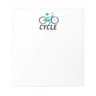 Aqua Bicycle - Cycle Notepad