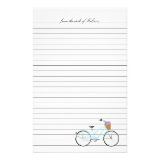 Aqua Bicycle Stationery