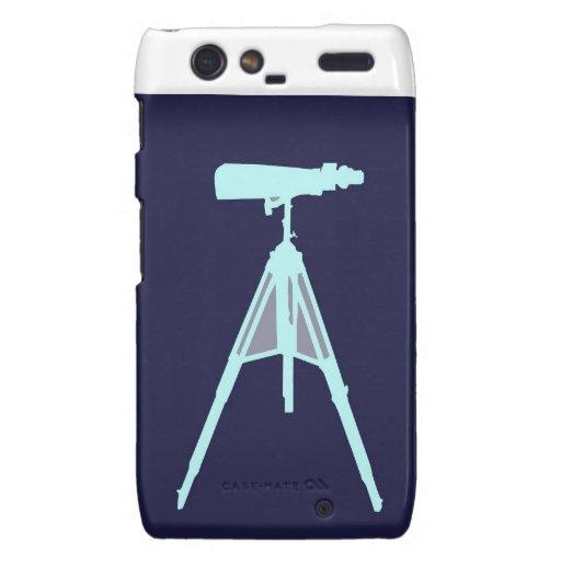 Aqua Binoculars - Navy blue. Droid RAZR Cover