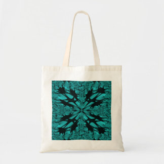 Aqua Black Fractal Art Bag