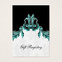 aqua black Gift registry  Cards