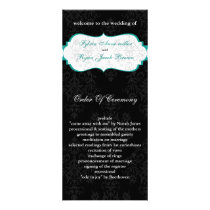 aqua black Wedding program