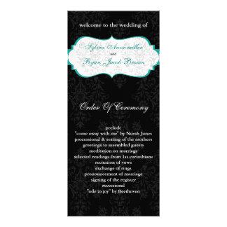 aqua black Wedding program