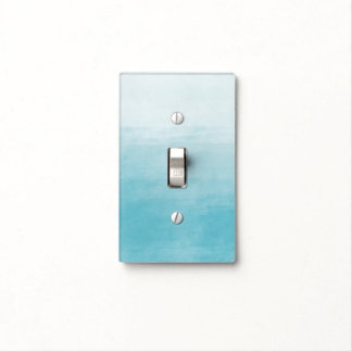 Aqua Bliss Watercolor Ombre Light Switch Cover