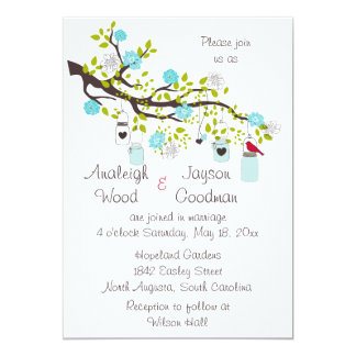 Aqua Bliss Wedding Invitations