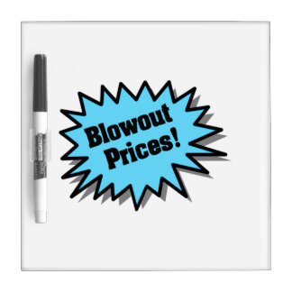 Aqua Blowout Prices Dry-Erase Boards