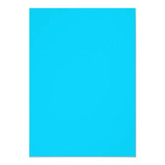 Aqua Blue 5x7 Paper Invitation Card