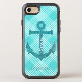 Aqua Blue Anchor OtterBox Symmetry iPhone 7 Case