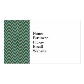 Aqua Blue and Gray Chevron Zig Zag Stripes Double-Sided Standard Business Cards (Pack Of 100)