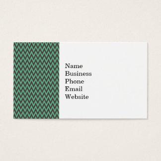 Aqua Blue and Gray Chevron Zig Zag Stripes Business Card