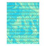 Aqua Blue and Lime Heart Line Design Letterhead Design