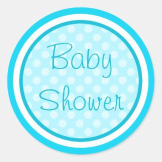 Aqua Blue Baby Shower Stickers