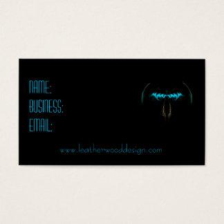Aqua Blue Bat Wings Business Card