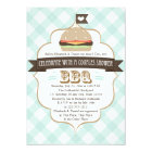 Aqua Blue BBQ Couples Wedding Shower Invitations