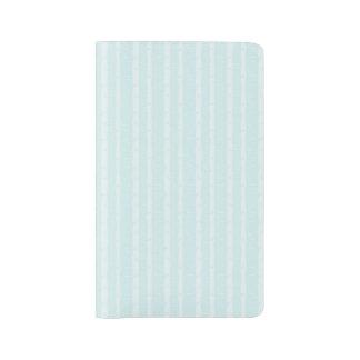 Aqua Blue Birch Bark Trees Subtle Texture Large Moleskine Notebook
