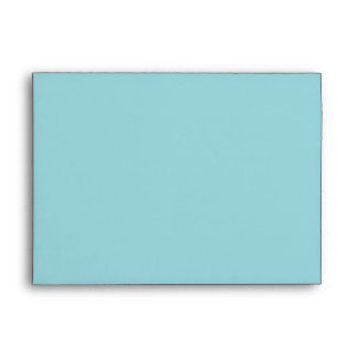 Aqua Blue Blank Customizable Envelope Envelopes