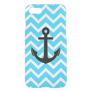 Aqua Blue Chevron Anchor iPhone 7 Case